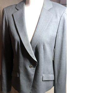 Armani Collezioni NWT Grey Textured Blazer Size 8